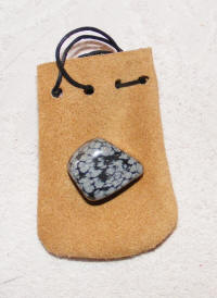 Talisman pouch and stone
